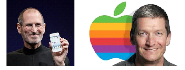 Steve Jobs + Tim Cook
