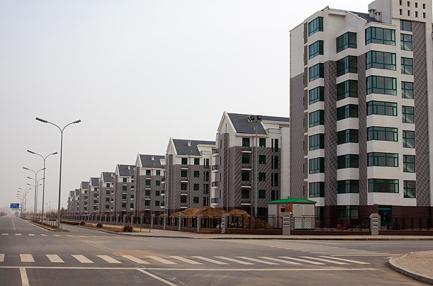 Empty high rises in Ordos